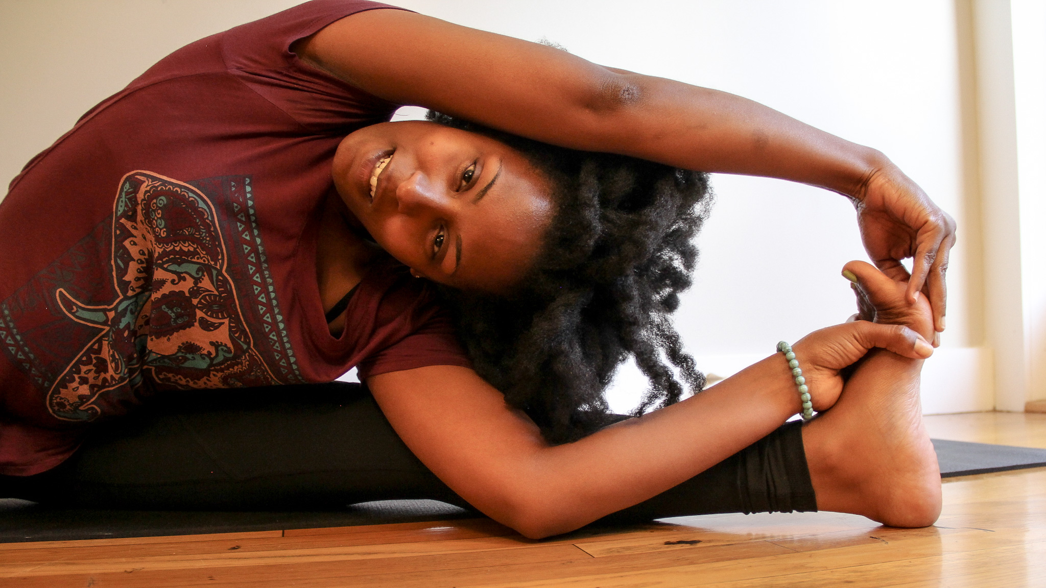 Yoga Pose - Juanita Davis, LCSW